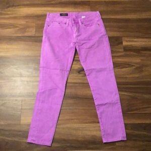 Sz 28 Jcrew toothpick jean, purple